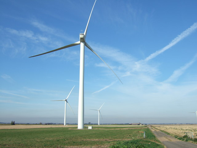 Wind turbines in the fens