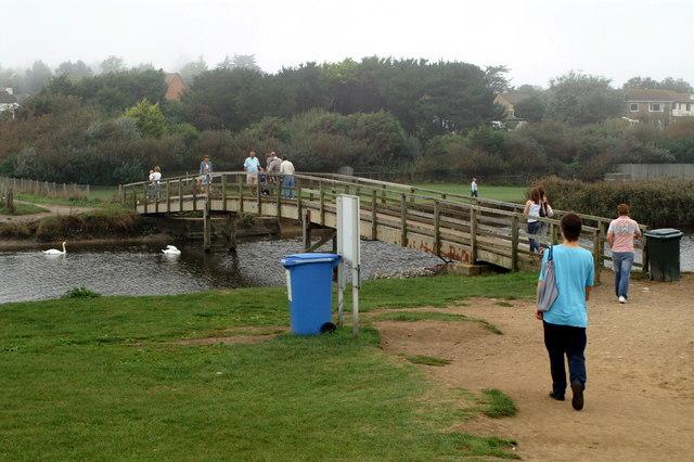 Footbridge Over River Char, Charmouth