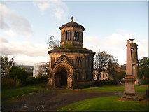 NS6065 : Glasgow: hilltop mausoleum by Chris Downer