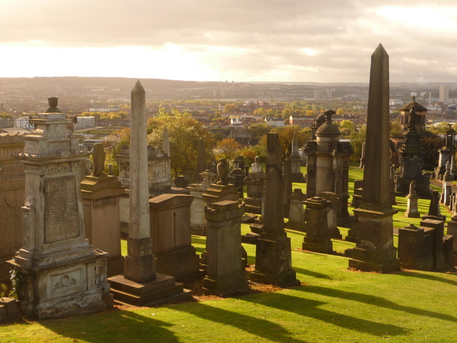 Glasgow: Necropolis and view of the suburbs
