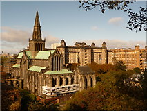 NS6065 : Glasgow: the cathedral and the Royal Infirmary by Chris Downer