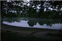 TQ2255 : Mere Pond in the early hours by JOHN PARKIN