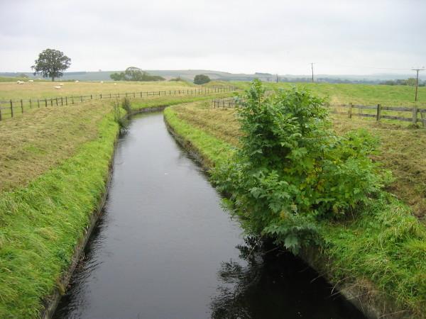 Hallington Reservoir Watercourse near Hallington