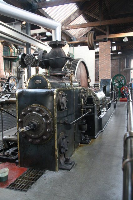 Tandem compound steam engine, Museum of Science & Industry