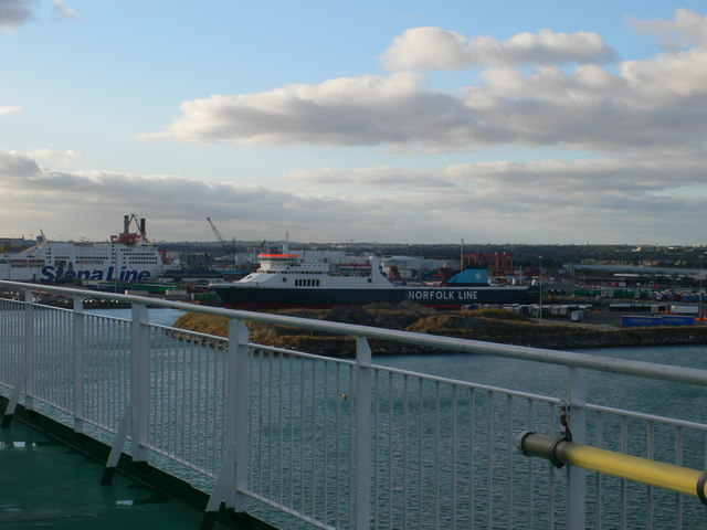Ferry terminals at Dublin Harbour