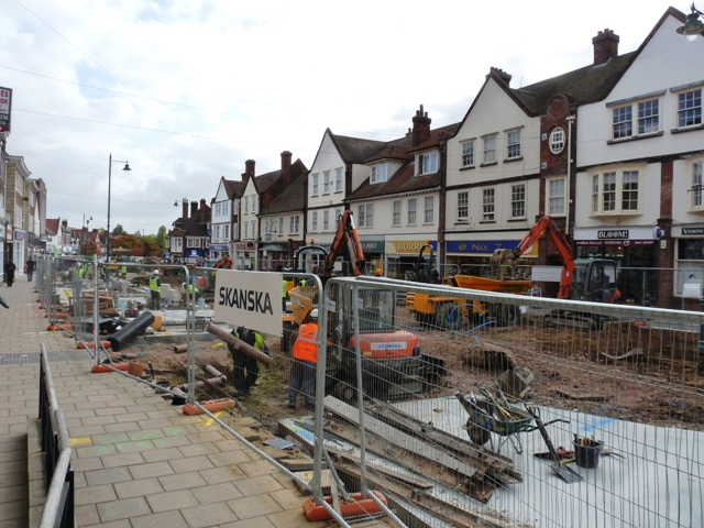 Reconstruction in Leys Avenue