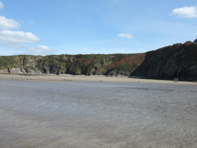 The Settlands at low tide