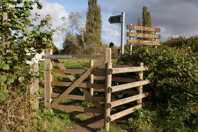 The new gate to the Reed Pond field