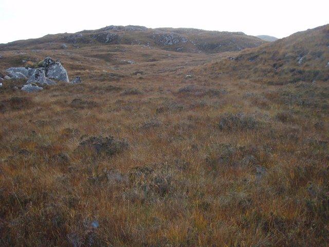 Moorland below Ceann Caol Beinn a' Chaisgein