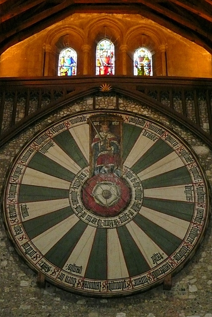 The round table, Great Hall, Winchester Castle