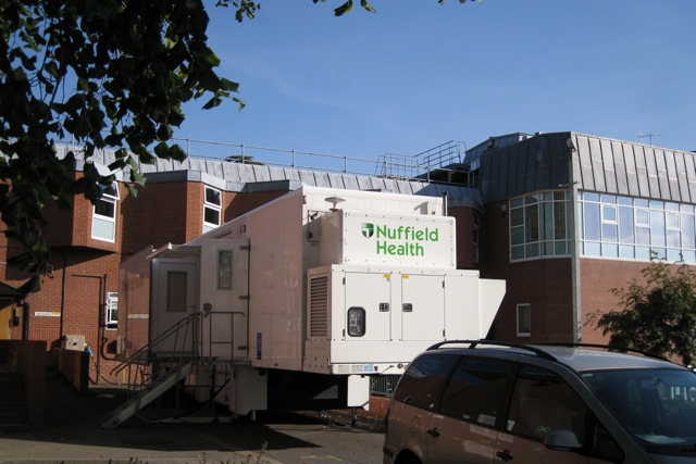 64-slice CT scanner at the Warwickshire Nuffield Hospital, Blackdown