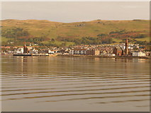 NS2059 : Largs: the town from the ferry by Chris Downer