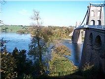SH5571 : Afon Menai west of Pont y Borth by Eric Jones
