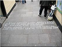 TQ3877 : Bawdy verse in Greenwich  market (2) by Stephen Craven