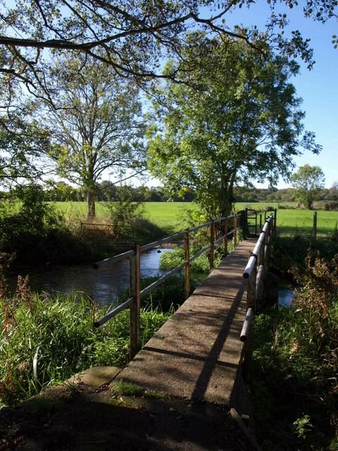 Footbridge over Bickerley Mill Stream
