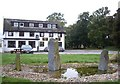 NH5141 : Pool and standing stones by Stanley Howe