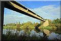 SK4530 : Pipe bridge below Cavendish Bridge by Stephen McKay