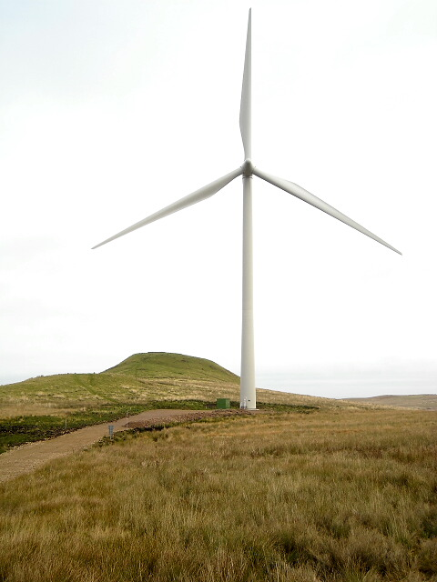 Wind Turbine and Dunwan Hill