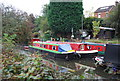 TQ5846 : Narrowboats on the River Medway by N Chadwick