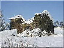 SE0614 : Derelict barn at Clough House, Slaithwaite by Pamela Norrington