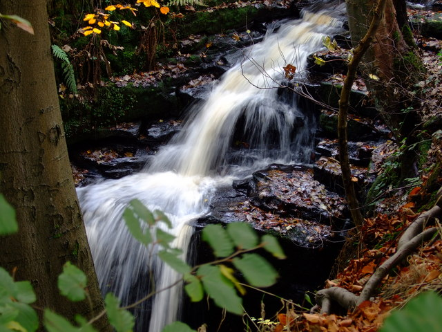 Waterfall in Merrydale, Slaithwaite