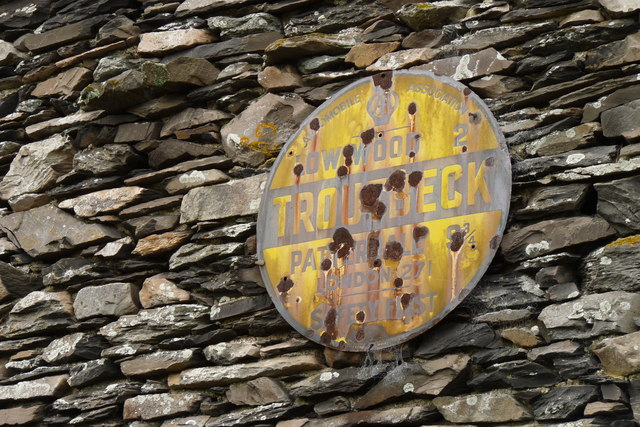 AA Sign at Town End, Troutbeck