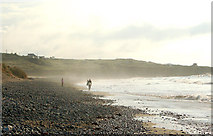 SW5842 : Haze on the shoreline at Godrevy beach by Andy F