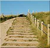 SW5842 : Steps over the dunes from the beach, Godrevy by Andy F
