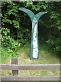 NS4962 : National Cycle Route 7 and 75 milepost by Richard Webb