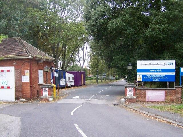 Entrance to West Park Hospital