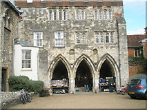 SU4829 : Bookstall at Winchester Cathedral by Basher Eyre