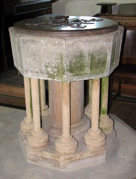 All Saints church - C13 Purbeck marble font
