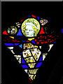 TM0099 : St Peter's church - medieval glass by Evelyn Simak