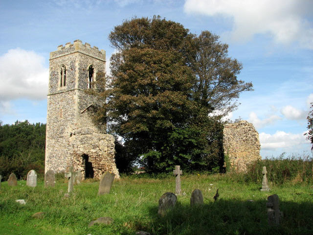 The ruins of St Mary's church