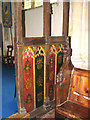 TG0511 : All Saints church - rood screen panels by Evelyn Simak