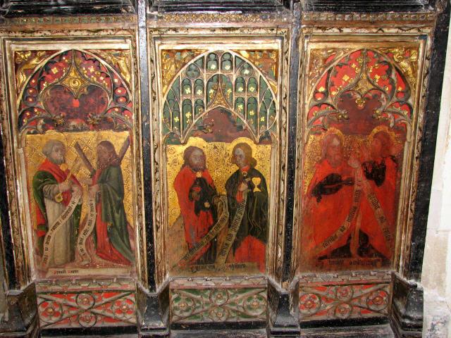 All Saints church - rood screen panels