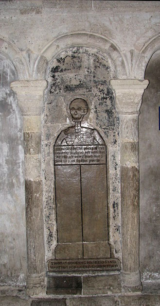 Norwich cathedral - C16 ledger slab to Thomas Gooding