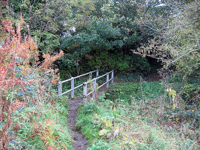 Footbridge on path to Broad Oak Farm
