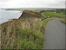 SS1800 : Coast road above Penhalt Cliff by Philip Halling