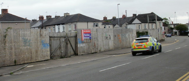 Derelict site at the corner of Junction Road and Caerleon Road, Newport by Jaggery