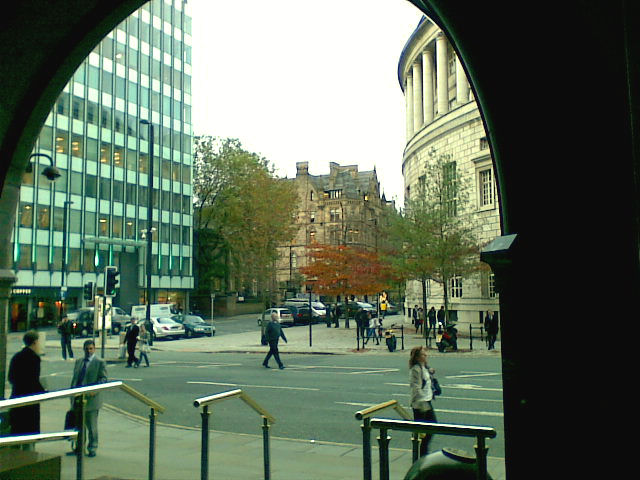 A view from the front of The Midland Hotel, Manchester