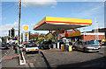 ST0741 : Williton: Shell petrol station by Martin Bodman
