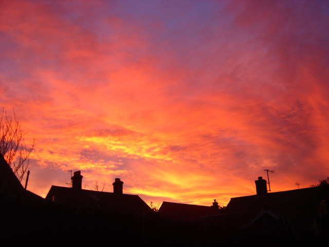Red sky at night is a shepherd's delight.