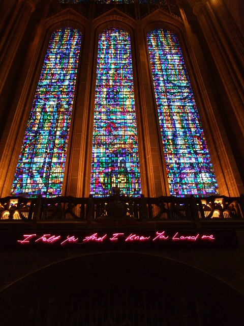 Tracey Emin's message, Liverpool Cathedral