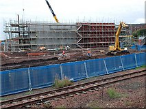 NS6161 : New viaduct abutment at Rutherglen by Patrick Mackie
