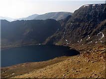NY3415 : Red Tarn and Helvellyn's Eastern Face by K  A