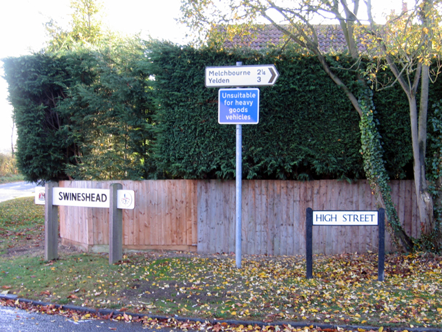 Village signs, Swineshead, Beds