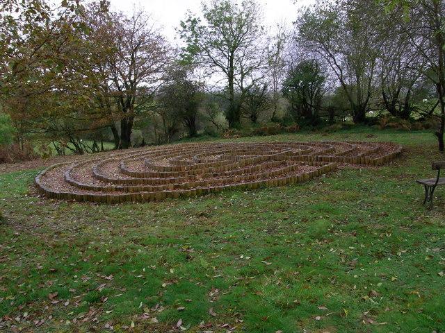 Labyrinth, Llanfihangel-Rhos-y-corn Church