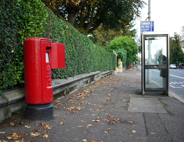 Postbox & telephone box, Malone Road