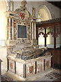 TF5814 : St Mary's church - Kervile monument (1624) by Evelyn Simak